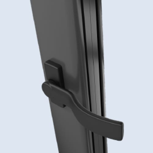 Matt Black Handle - Warmcore Doors