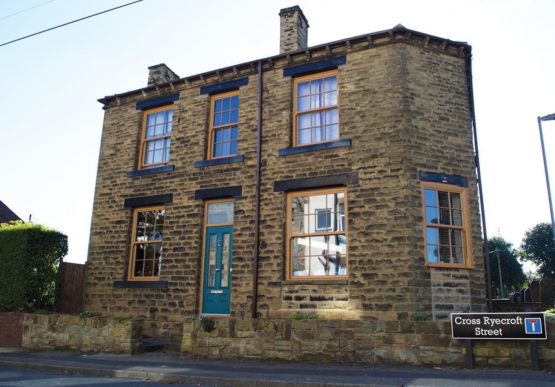 Yorkshire Terrace: Oak PVCu Sash Windows & Composite Door In Yorkshire
