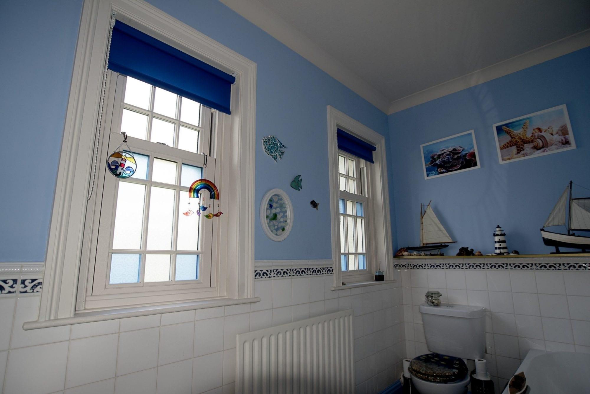 Sash Windows in Bathroom