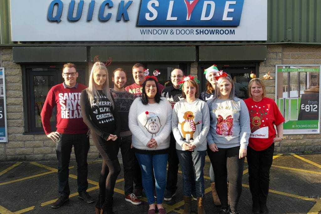Christmas Jumper Day at Quickslide