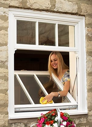 How to clean PVCu Sliding Sash Windows.