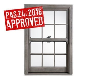 Our PVCu Sash Windows are now PAS 24:2016 approved!