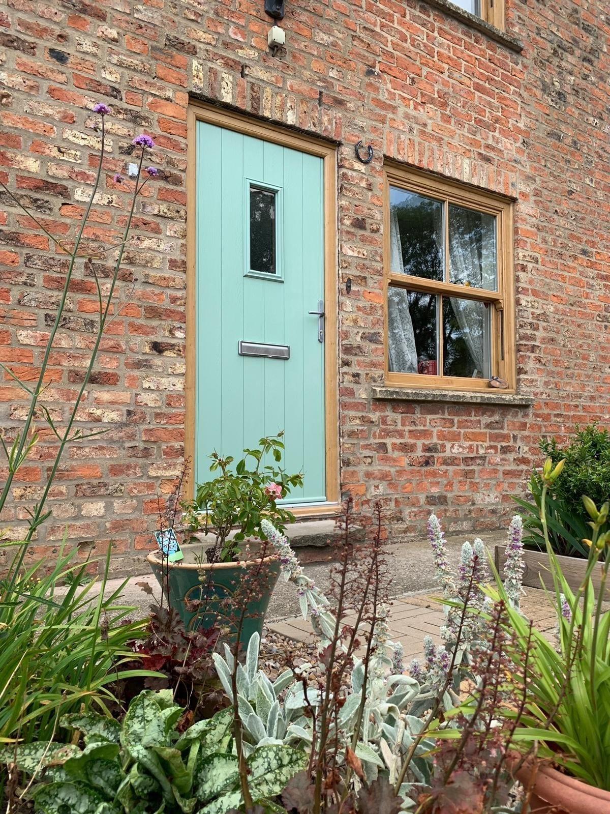 Chartwell Green Door and Irish Oak Windows