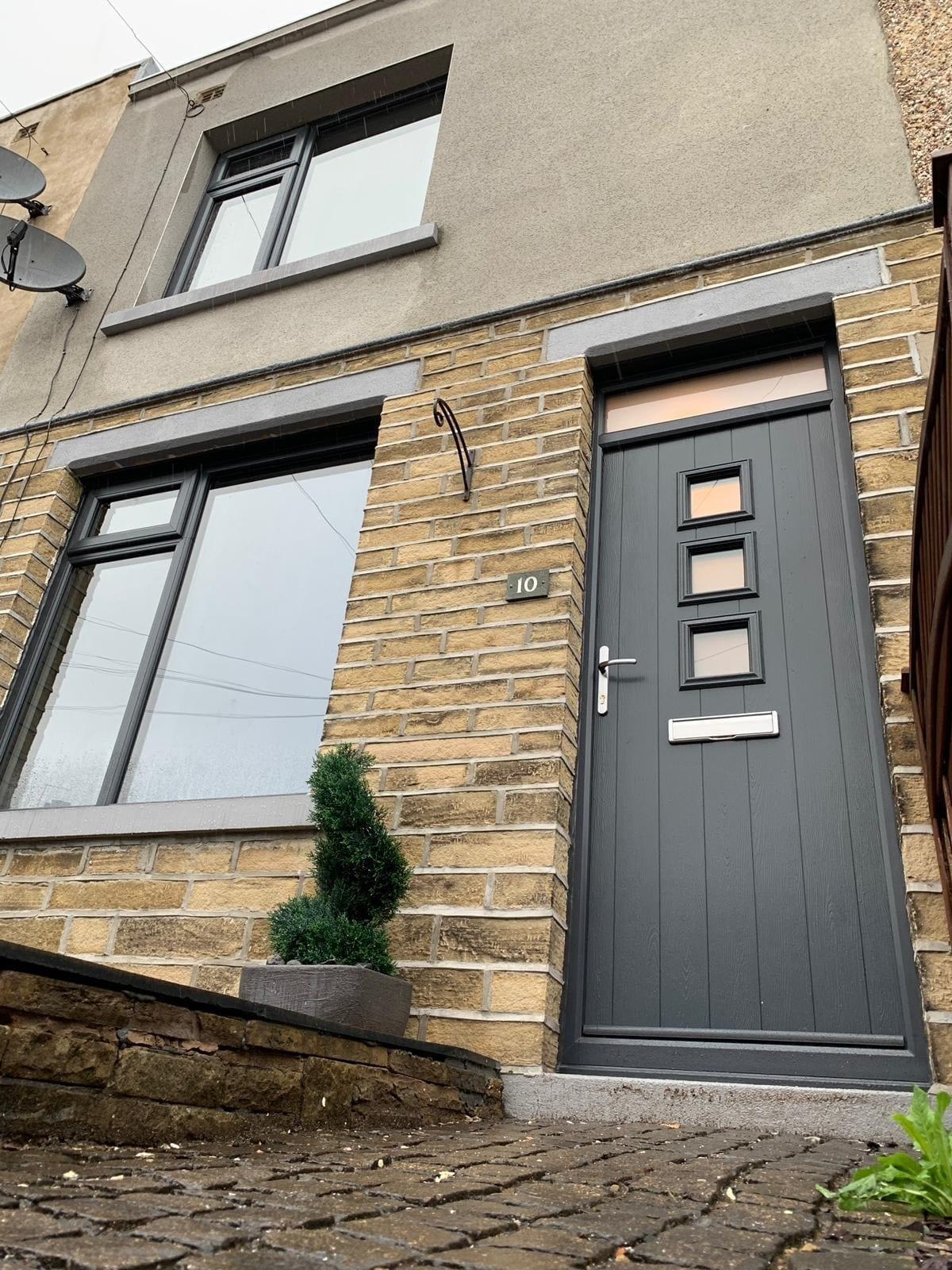Grey Composite Door and Casement Windows