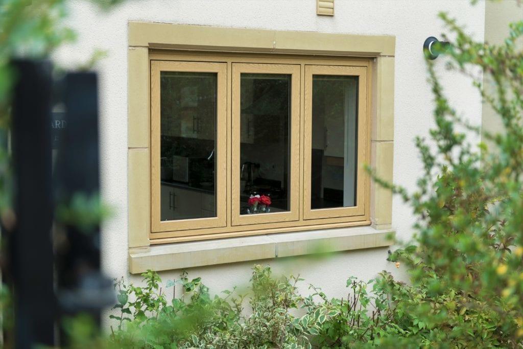 PVCu Flush Casement Window in Irish Oak