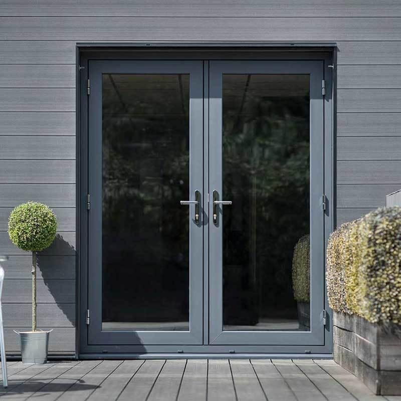 PVCu Flush French Doors   Quickslide