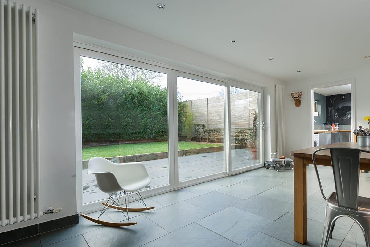 PVCu Patio Door in white