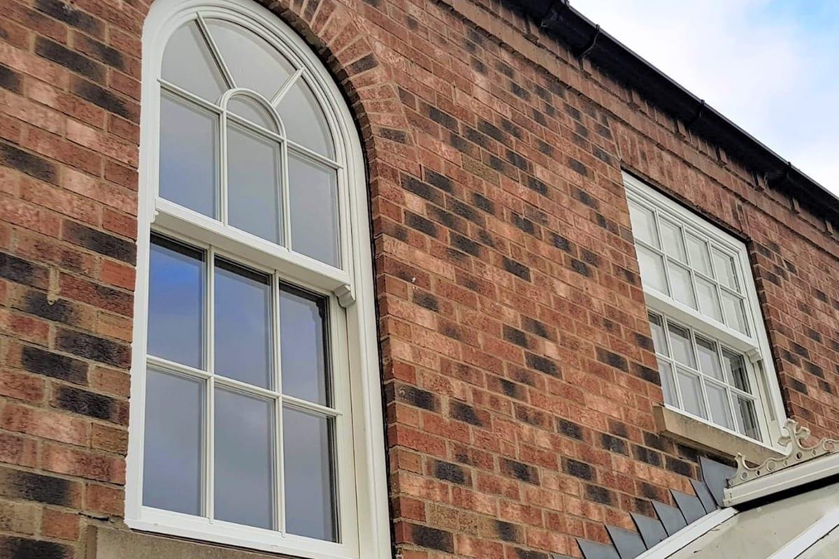 True Arched PVCu Sliding Sash Window
