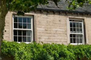 PVCu Sash Windows in cream woodgrain