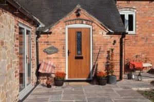 Solidor Composite Door in golden oak