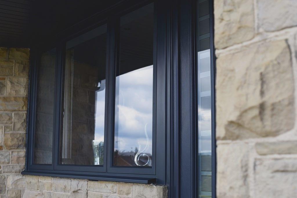 Aluminium Casement Windows in Anthracite grey