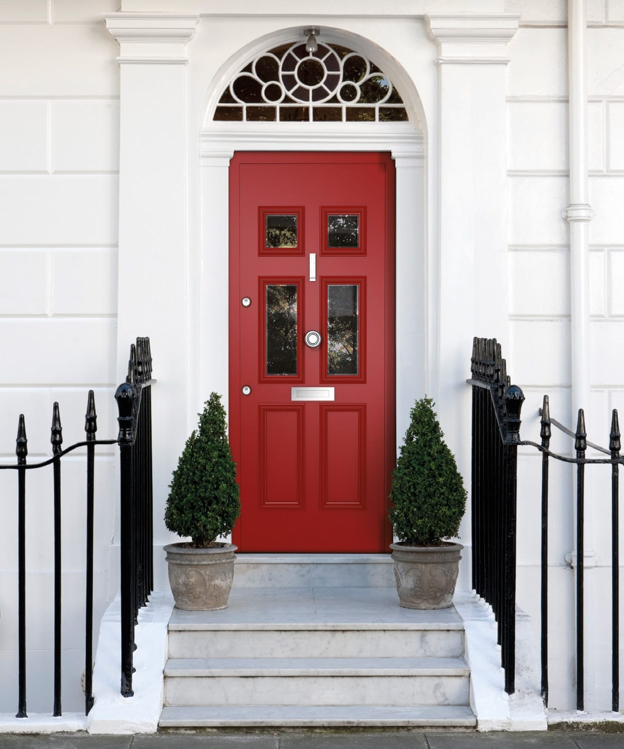 red-designer-door