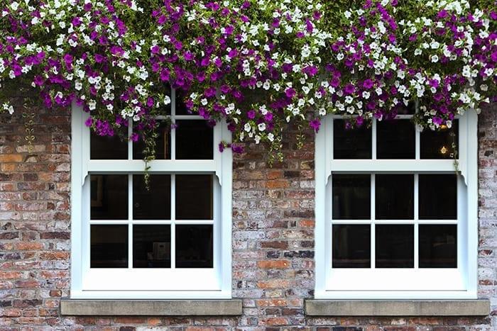 White PVCu Sliding Sash Windows