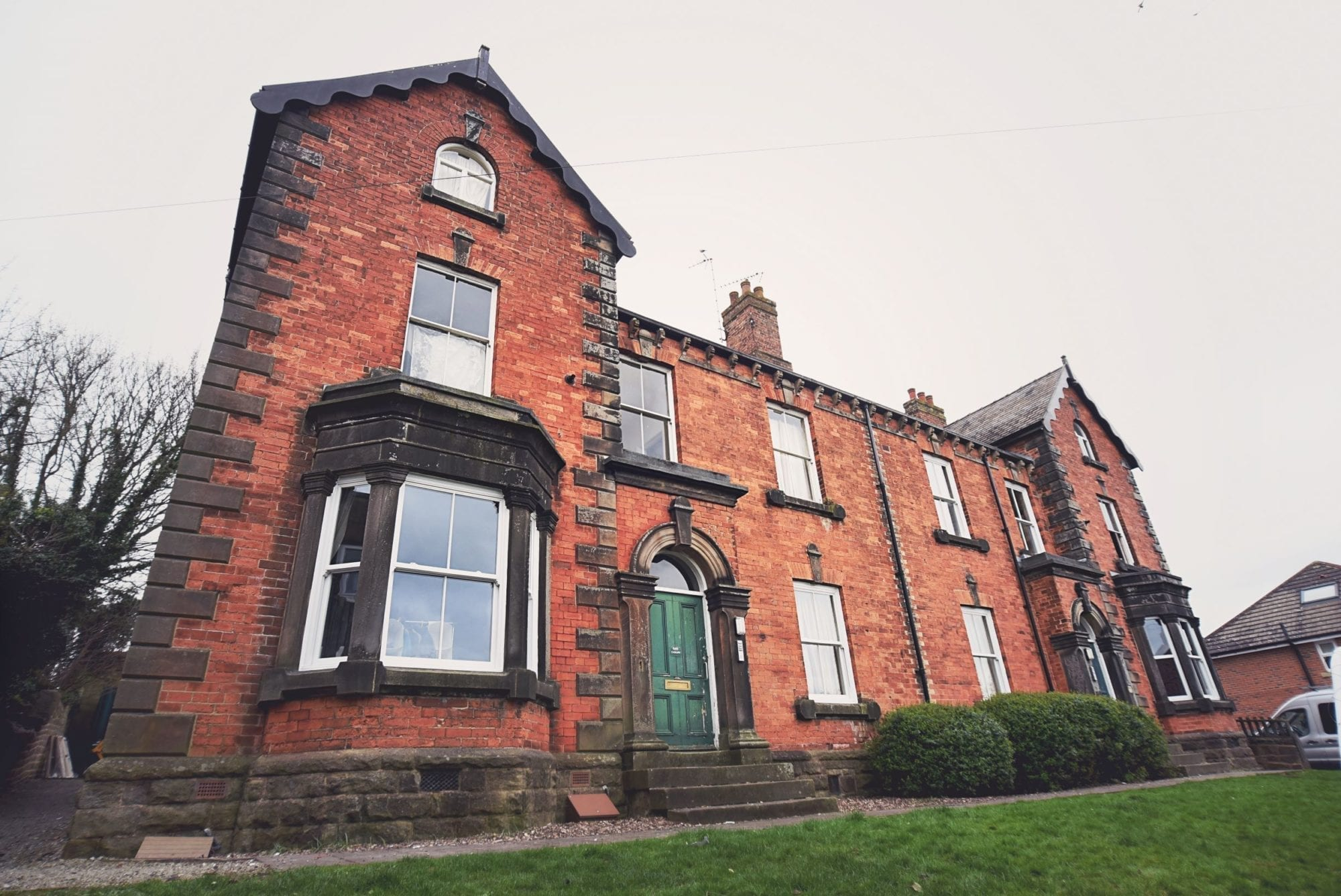 Large house with Victorian Windows