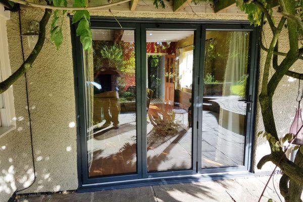 Grey Aluminium Bi-Fold Doors