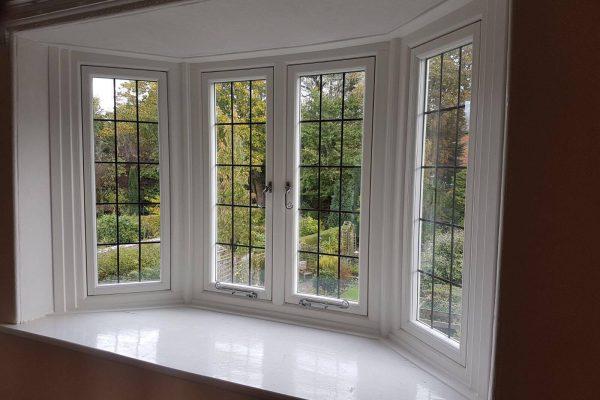 Interior of a PVCu Bay Window