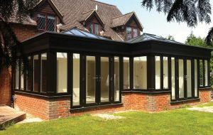 Aluminium French Doors in black