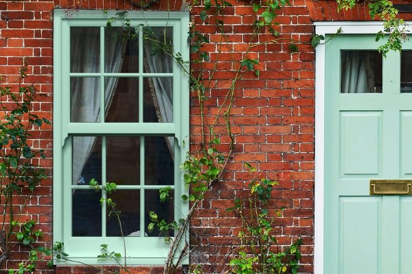 Chartwell Green PVCu Sliding Sash Windows
