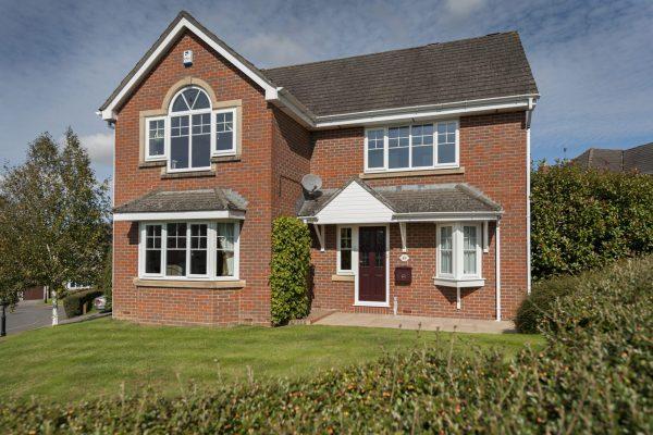 White Edwardian Windows with Bow
