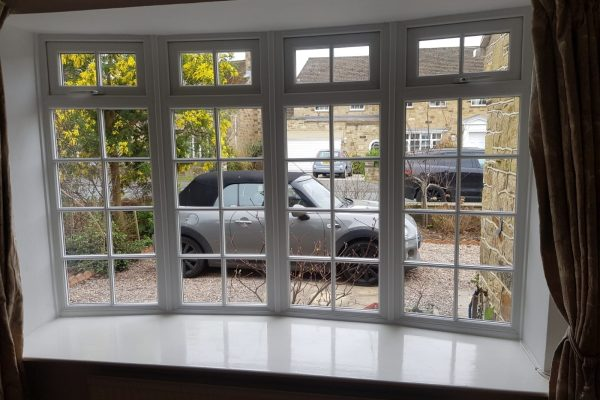 White Bow Window Interior