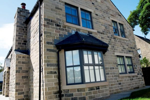 Modern Black Aluminium Bay Window