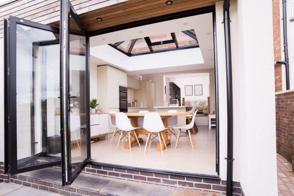 bespoke aluminium bi-fold doors shrewsbury