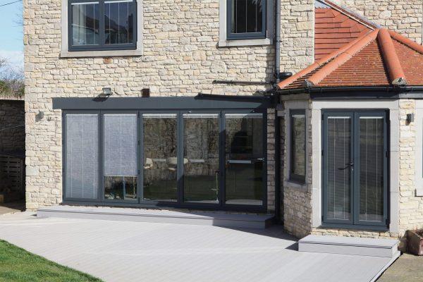 Black Aluminium Bi-Fold Doors