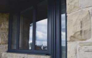 Aluminium Casement Windows in Anthracite grey
